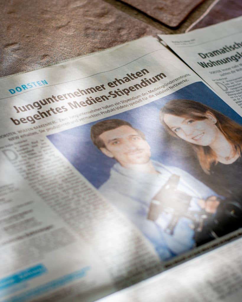 Artikel Dorstener Zeitung Stipendium FilmOrbit